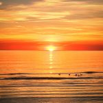 Röd solnedgång Salthamn